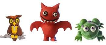 Exemples de réalisations en plasticine sur le thème Halloween