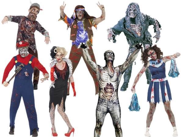 Différentes tenues de mort vivant