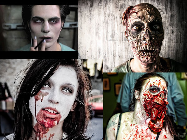 Exemples de maquillages de morts vivants et zombies