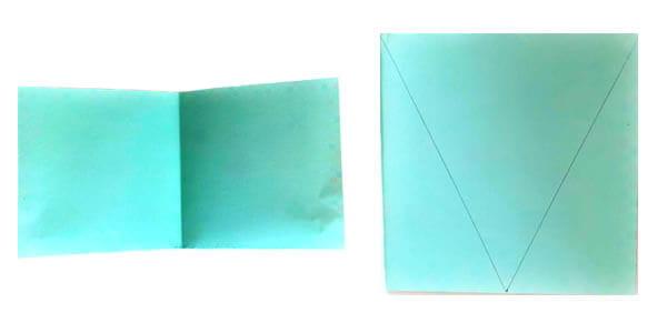 Plier et découper les triangles