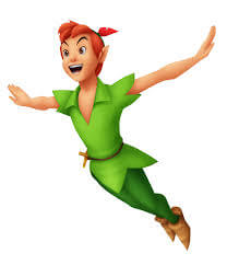 Illustration de Peter Pan en plein vol