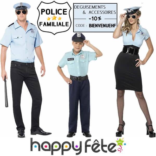 les costumes de policier pour toute la famille.