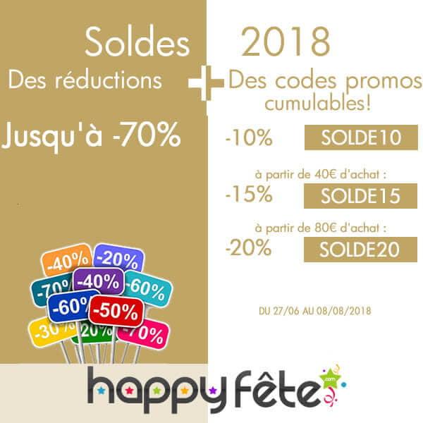 les soldes d'été 2018, les promotions et réductions