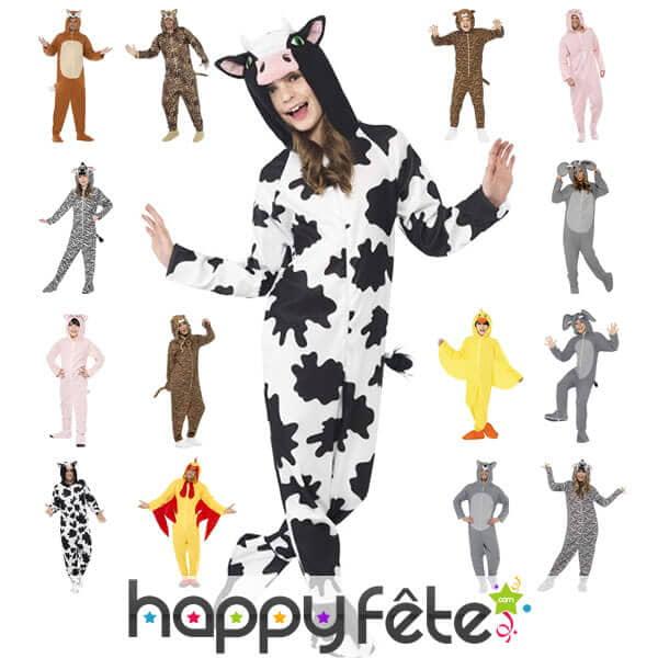 nouvelle collection de déguisements et combinaisons d'animaux