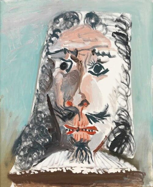 Photo de la toile portrait de mousquetaire réalisée par Pablo Picasso