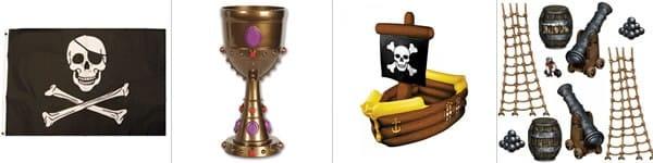Décorations de pirate