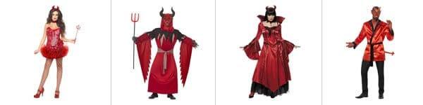 Déguisements de diable et de diablesse
