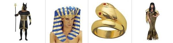 Déguisements, accessoires et décorations sur le thème de l'Egypte