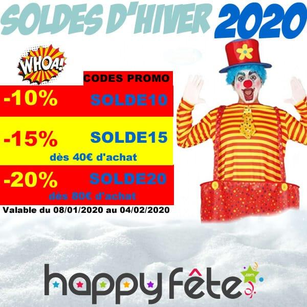 soldes d'hiver 2020, les codes promo