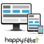 Happyfete, version responsive