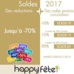 Soldes d'hiver 2017, réductions et codes promos