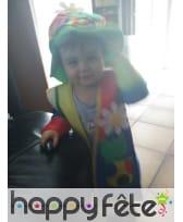 Costume de clown multicolore pour bébé