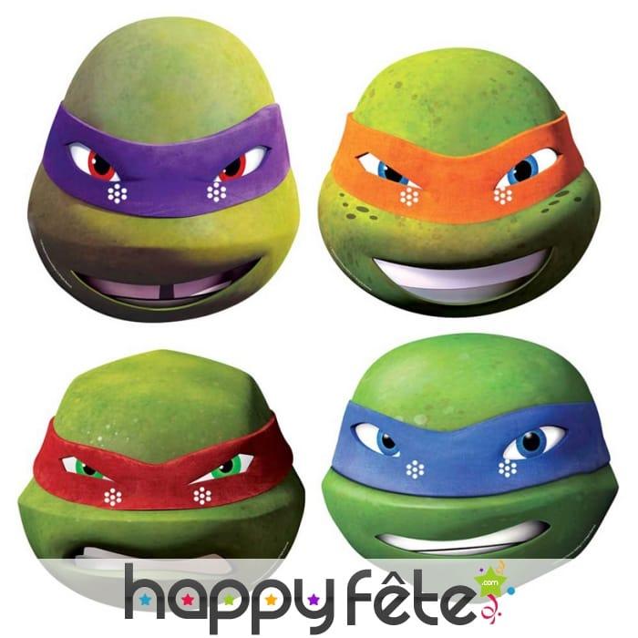 4 masques des tortues ninja - Leonardo tortues ninja ...