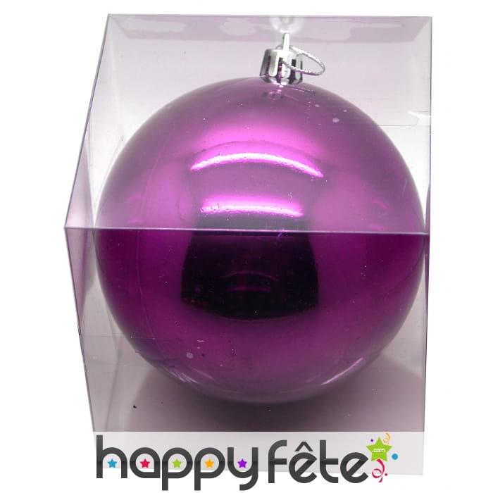Grosse Boule De Noel : boule de noel mauve brillant de 10 cm ~ Pogadajmy.info Styles, Décorations et Voitures