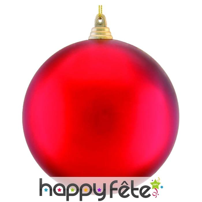 Boule rouge de noel 10cm - Boule de noel rouge ...