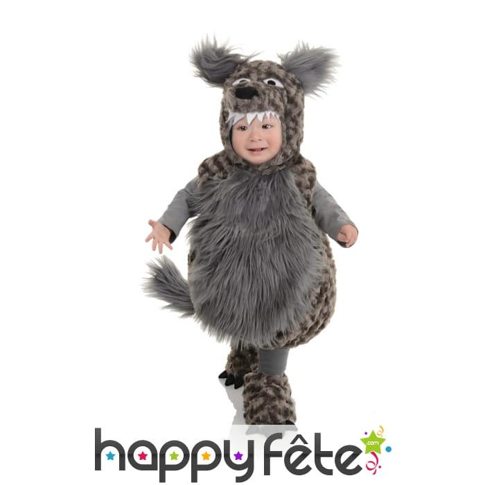 costume de loup gris en peluche pour enfant. Black Bedroom Furniture Sets. Home Design Ideas