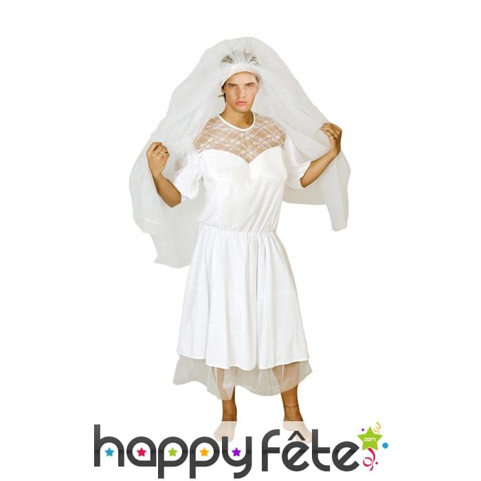 costume de mari e blanche pour homme