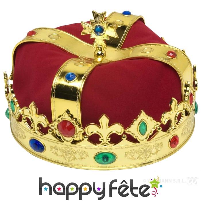 Couronne de roi avec fausses pierres pr cieuses - Fausse pierre precieuse ...