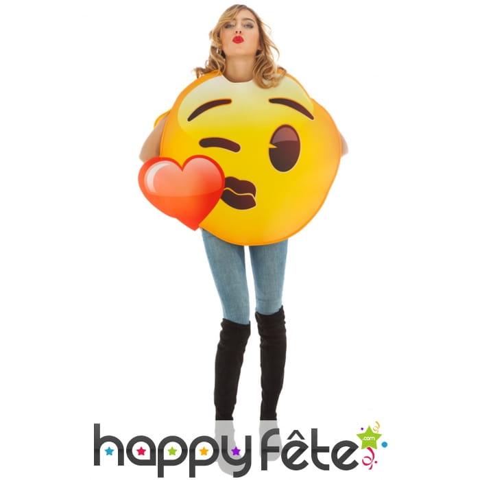 Costume De Smiley Bisou Coeur Pour Adulte