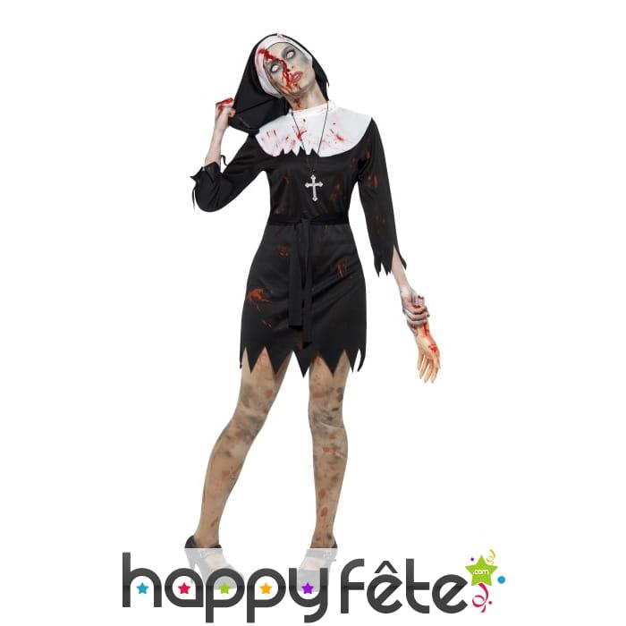 d guisement bonne soeur zombie robe courte. Black Bedroom Furniture Sets. Home Design Ideas