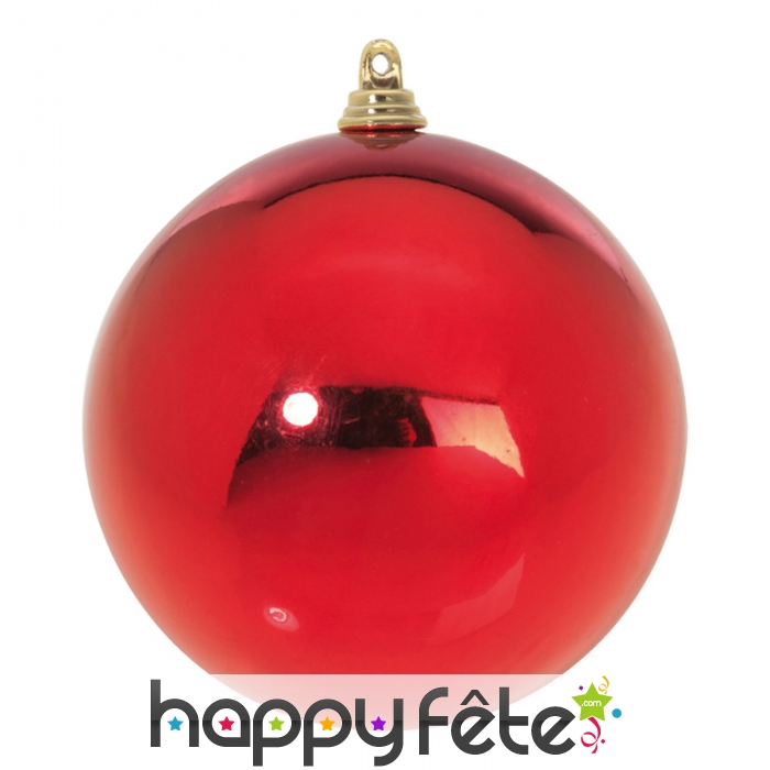 Grosse boule de no l rouge for Grosse boule de noel exterieur
