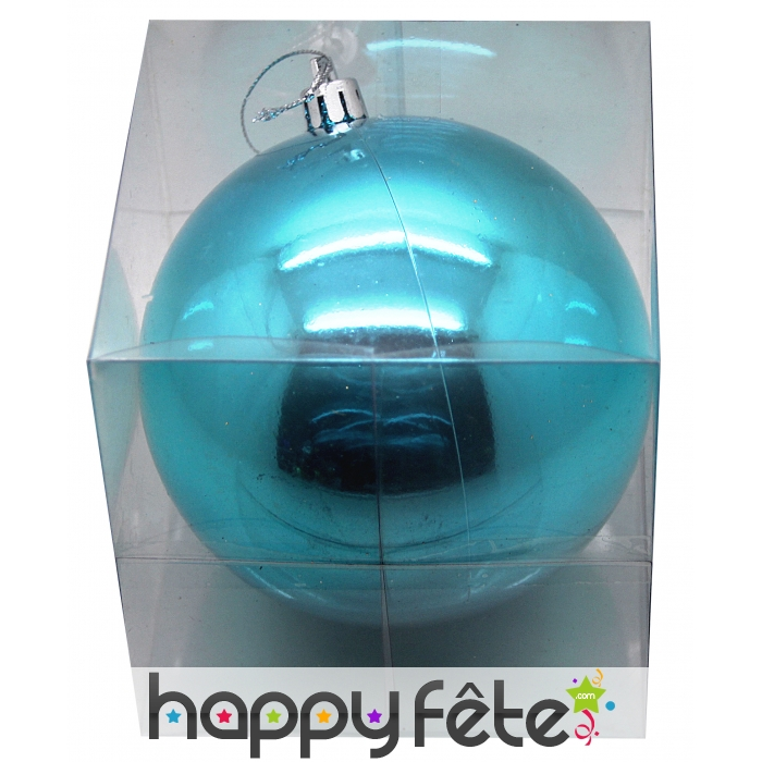 grosse boule de noel turquoise brillant 20 cm. Black Bedroom Furniture Sets. Home Design Ideas