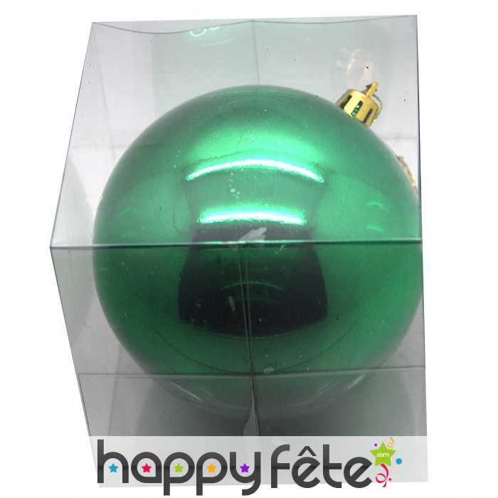 grosse boule de noel vert brillant 20 cm. Black Bedroom Furniture Sets. Home Design Ideas