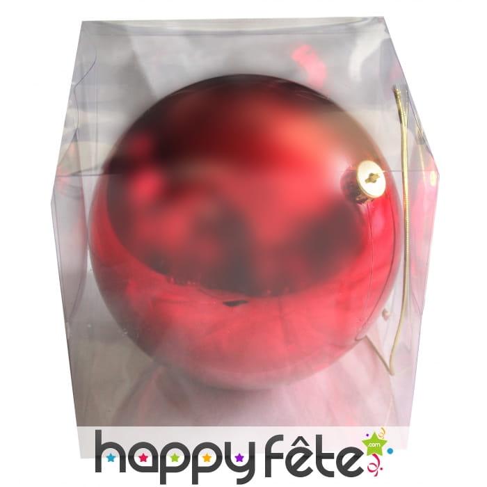 grosse boule rouge de noel brillante de 20cm. Black Bedroom Furniture Sets. Home Design Ideas