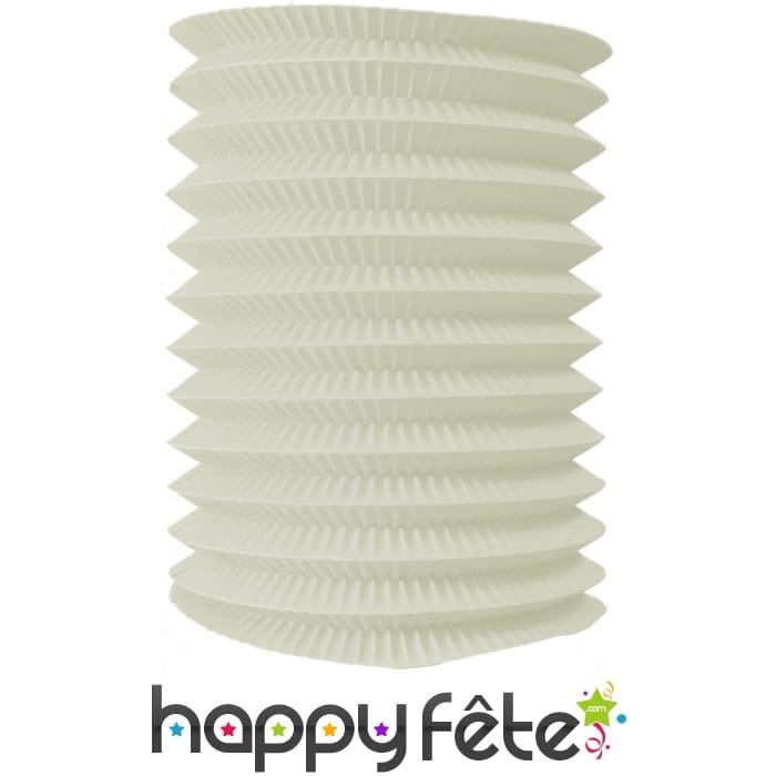 Lampion blanc ivoire cylindrique - Blanc comme l ivoire ...