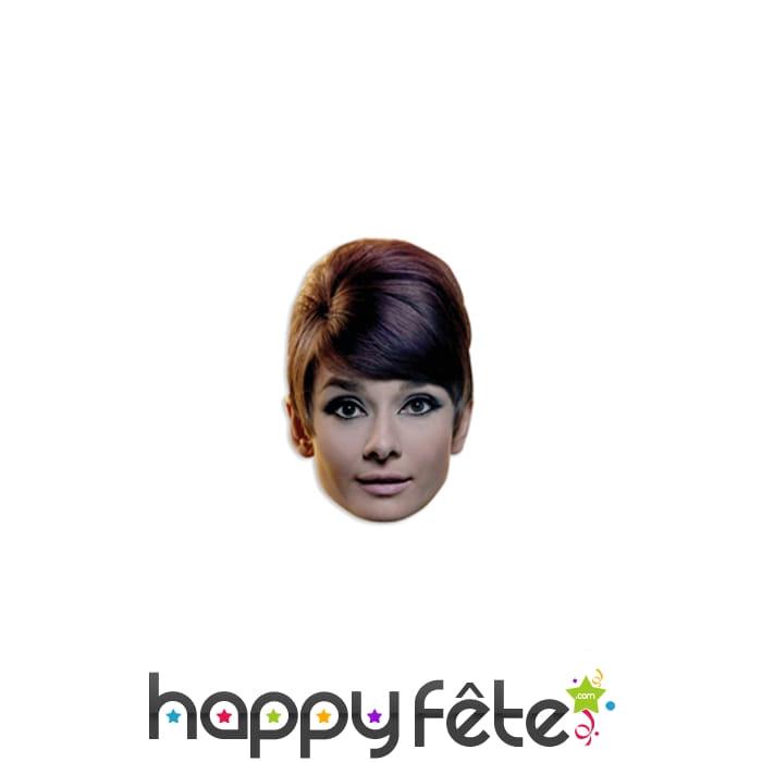 Masque de audrey hepburn en carton - Deguisement audrey hepburn ...