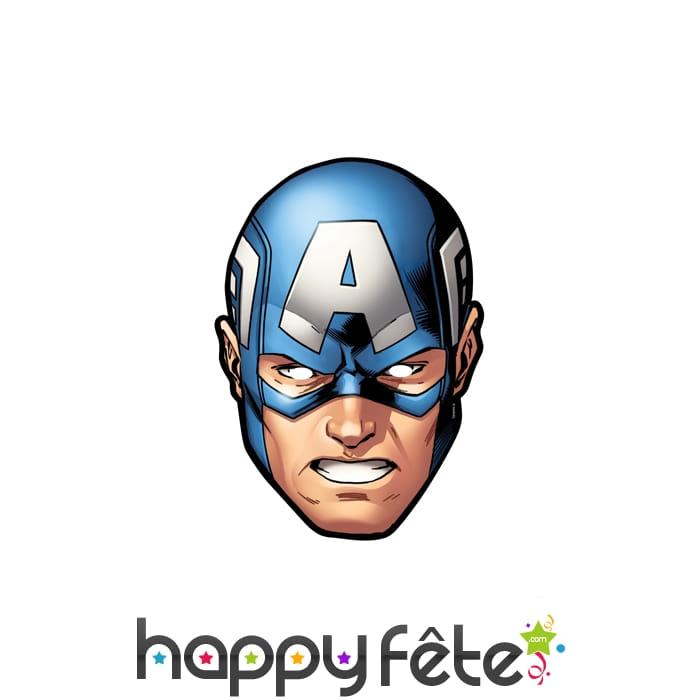 Masque de captain america bd en carton - Masque de captain america ...