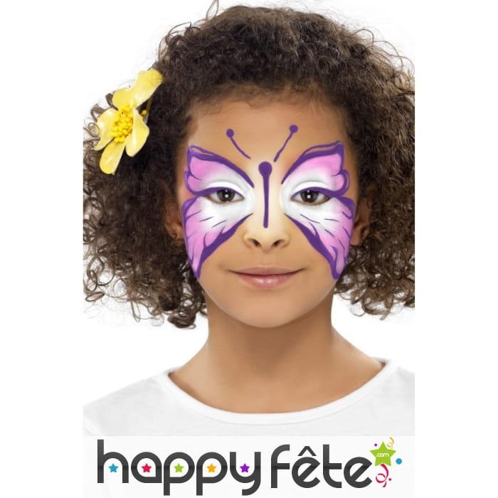 Maquillage visage papillon - Maquillage visage enfant ...