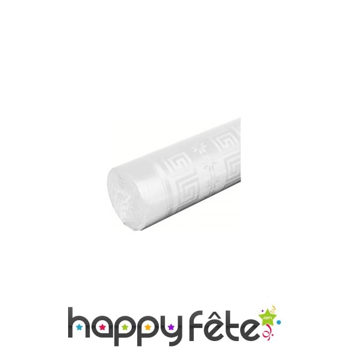 Nappe blanche damass e de x 50 m - Nappe damassee blanche ...