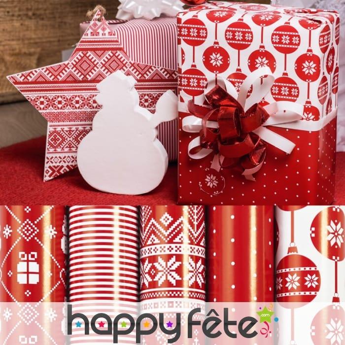 papier cadeau rouge motifs de noel jpg