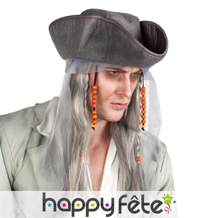 Perruque et chapeau de pirate fant me - Pirate fantome ...