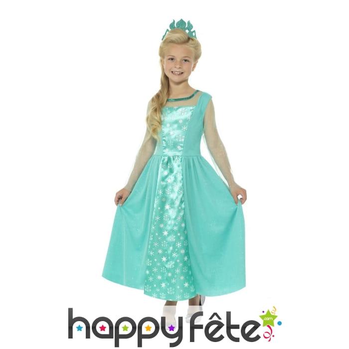 Robe de princesse des glaces pour enfant - Robe reine des glaces ...