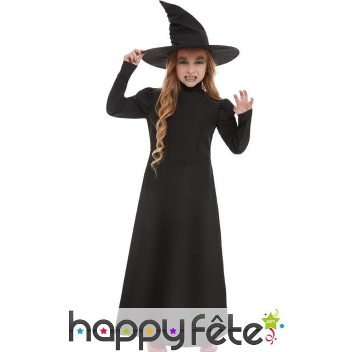 Robe Longue Noire De Sorciere Pour Enfant