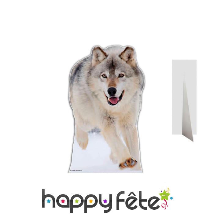 Silhouette de loup taille réelle