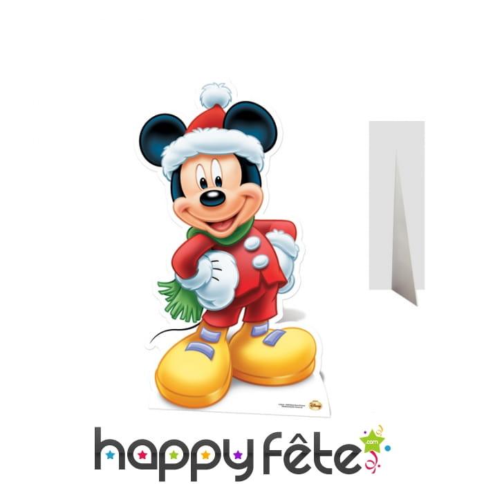 silhouette de mickey p re no l en carton. Black Bedroom Furniture Sets. Home Design Ideas