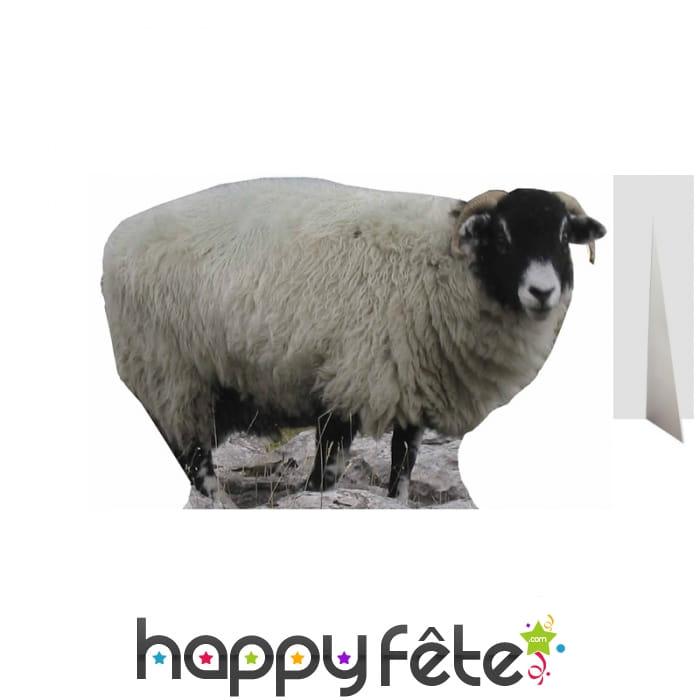 silhouette de mouton en carton taille r elle. Black Bedroom Furniture Sets. Home Design Ideas
