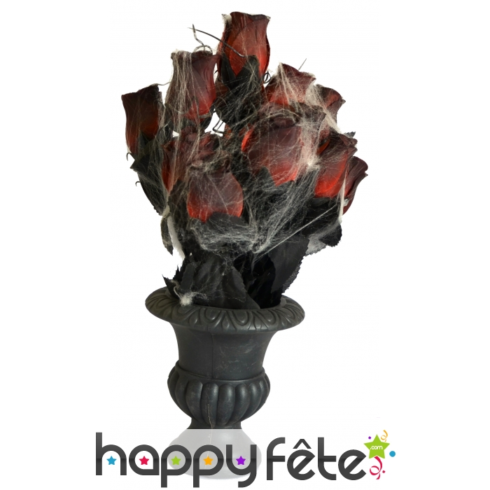vase de roses pour halloween. Black Bedroom Furniture Sets. Home Design Ideas
