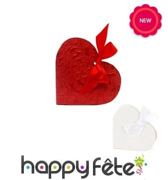 10 Boites à dragées en forme de coeur, 10cm