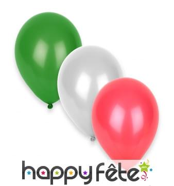 12 Ballons aux couleurs de l'Italie