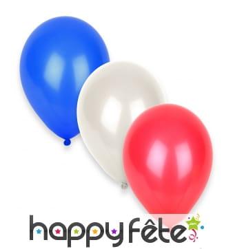 12 Ballons aux couleurs de la France