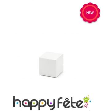 10 boites en carton carrées blanc uni, 5cm