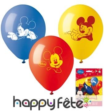 10 ballons Mickey Mouse