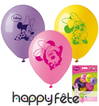 10 Ballons Minnie Mouse
