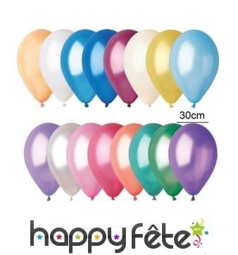 100 ballons métalisés de 30cm