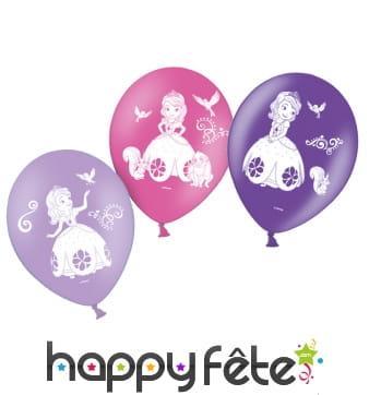 10 ballons princesse Sofia