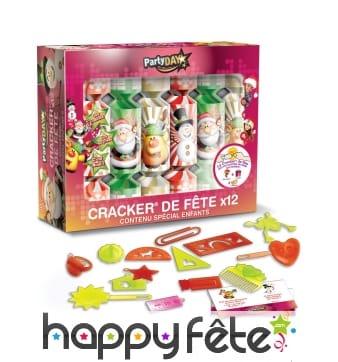 12 Crackers de Noël pour enfants, 18cm